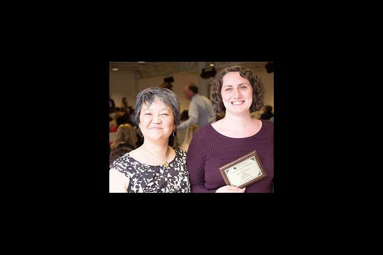 Heather Hyden (r) and her graduate adviser, Keiko Tanaka