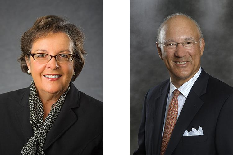 The Jockey Club recently gave medals to Nancy Cox, UK vice president for land-grant engagement and dean of the College of Agriculture, Food and Environment and Len Coleman, former president of the National League of Professional Baseball Clubs