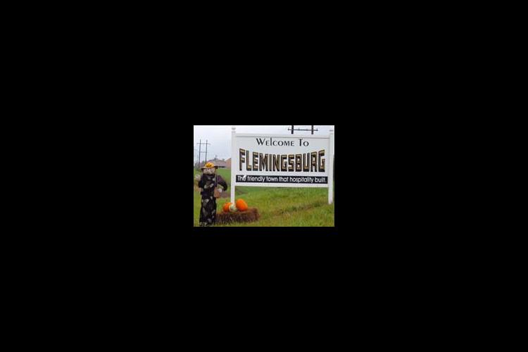 Scarecrows are everywhere in Fleming County this fall, even welcoming visitors to Fleminsburg.
