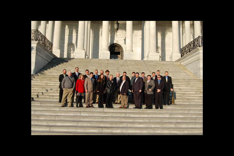 Early-career farmers and UK Extension agents visited Washington, D.C.