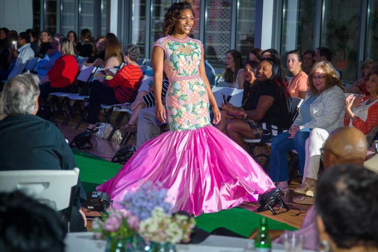 A model at a previous fashion show.