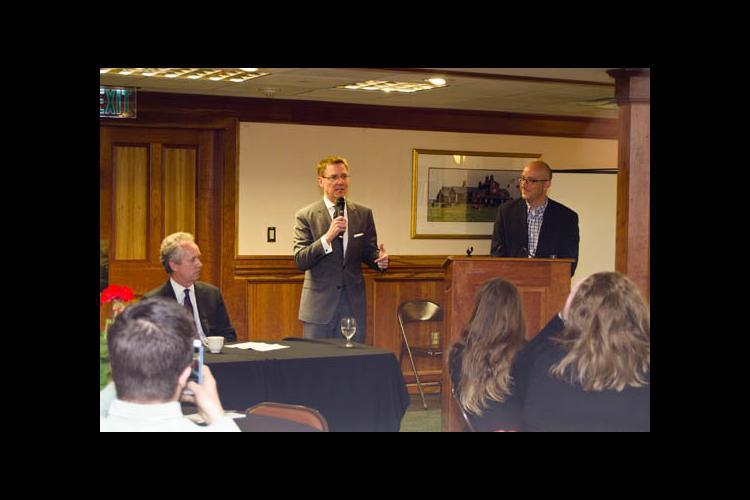 Lexington Mayor Jim Gray welcomed participants to the Bluegrass Barn Raising.