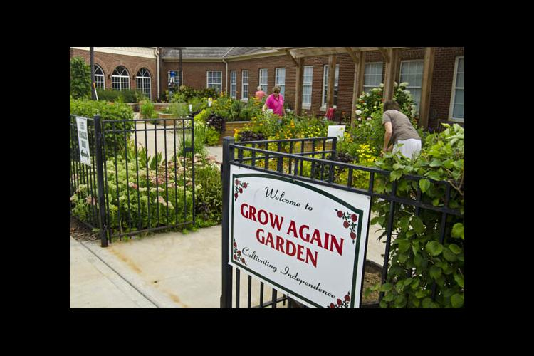 The Grow Again Garden at Cardinal Hill Rehabilitation Hospital is both beautiful and useful.