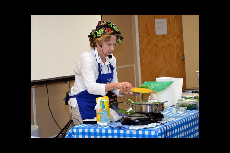 Christine Duncan, Oldham County FCS extension agent, leads a cooking class at the La Grange YMCA.