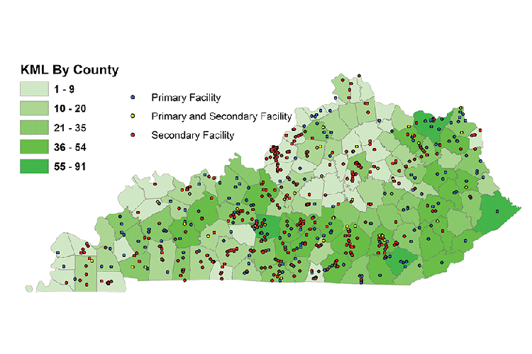 This graphic includes the number of Master Loggers and wood-related businesses in each county and illustrates the importance of the forest industry to state's economy.