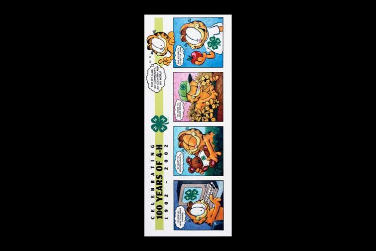 The above is a photo of the Garfield 4-H print being auctioned on eBay to  celebrate the centennial  birthday of 4-H.