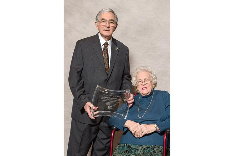George and Ruth Duncan are among the newest members in the National 4-H Hall of Fame. Photo by Steve Patton, UK agricultural communications.