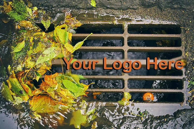 Stormwater Drain with Your Logo Here