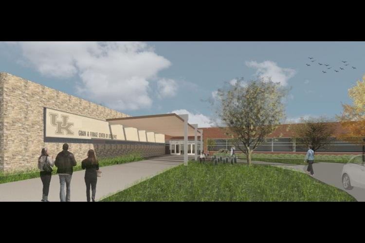 Artist rendering of UK Grain and Forage Center for Excellence and related research