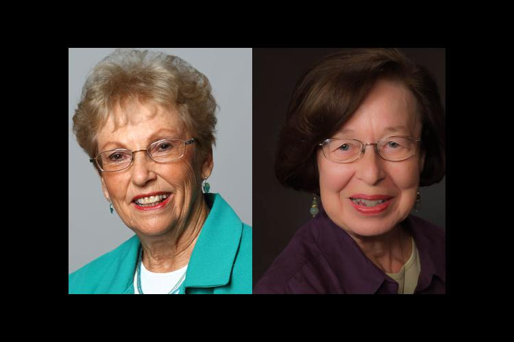 Joyce Clifford, left, and Helen Shaw are the newest inductees into the UK School of Human Environmental Sciences Hall of Fame.