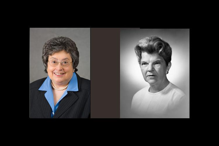 Peggy Hurt Powell and the late Pauline Park Wilson Knapp