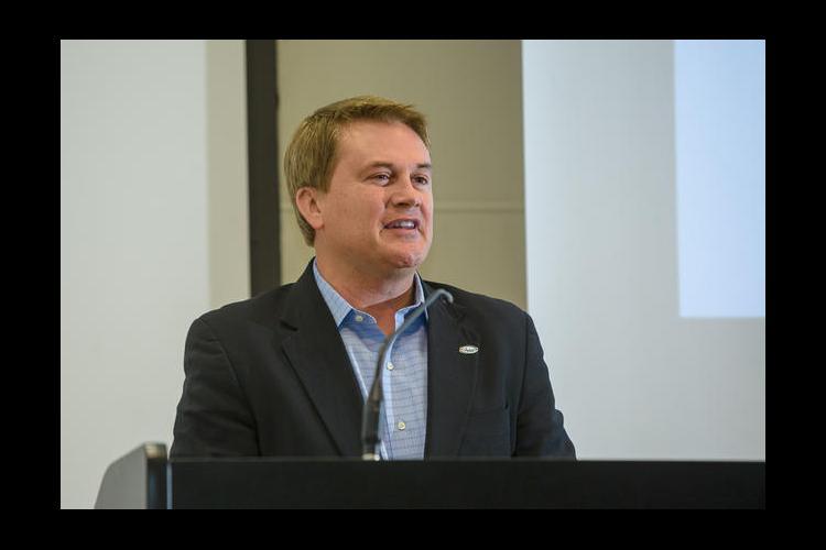 Ky. Ag Commissioner James R. Comer speaks at the Celebration of Land Grant Research