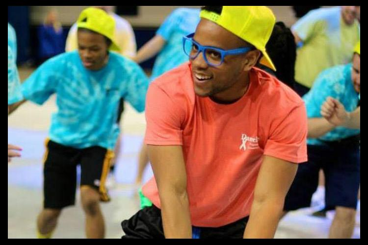 Jordan McDowell dancing during DanceBlue.