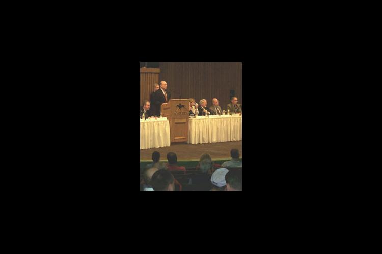Scientists presented the latest information on Mare Reproductive Loss Syndrome May 24 at Keeneland Pavilion.