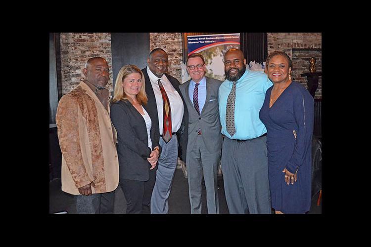 Rico Cloyd, Deanna Trusty, William Swope, Mayor Jim Gray, Marvin Young, Yolanda Bradford.