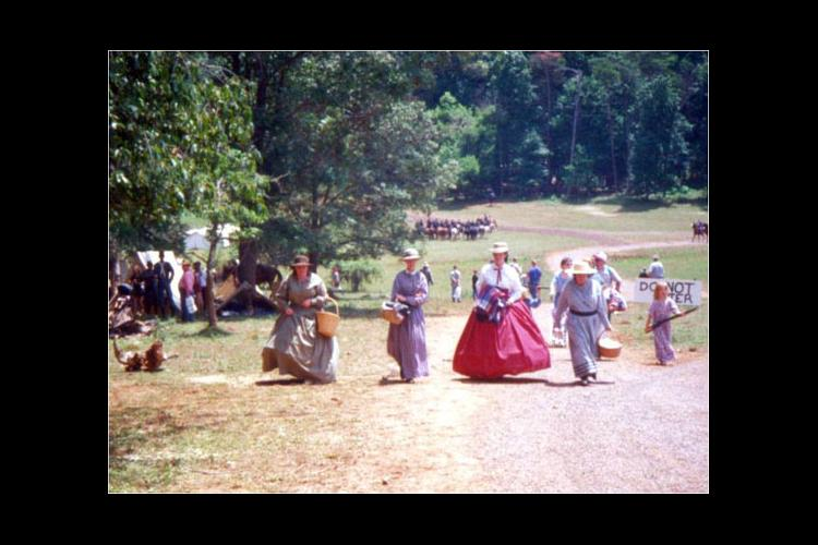 Historical re-enactors at a Grant vs. Lee Re-enactment in Brandy Station, Va.