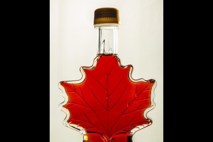 Maple syrup bottle.