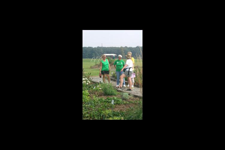 master gardeners on path