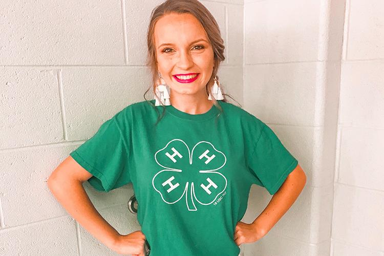 Mary Kate Miller, an agricultural and medical biotechnology major from Henderson, developed a passion for serving Kentucky's agriculture community while a 4-H'er. Photo submitted.
