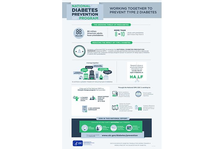 An infographic about the National Diabetes Prevention Program.  Infographic by the National Diabetes Prevention Program.