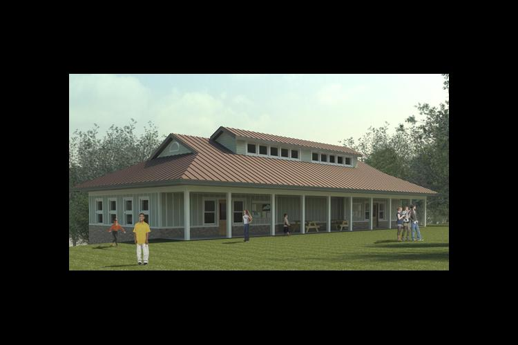 A rendering of the new storm-ready 4-H camp cabin.