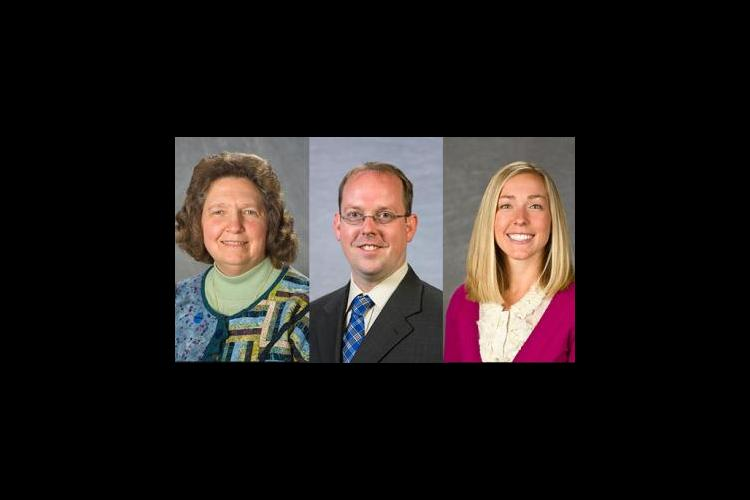 Judy Hetterman, Jason Swanson and Elizabeth Combs are the 2017 recipients of the Patricia Brantley Todd Awards of Excellence.