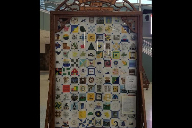 The 2020 Kentucky Census quilt will now hang in the Kentucky Department for Libraries and Archives, located in Frankfort. Photo by Jordan Strickler.