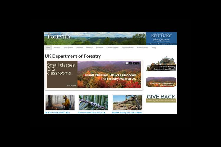 Forestry website screenshot