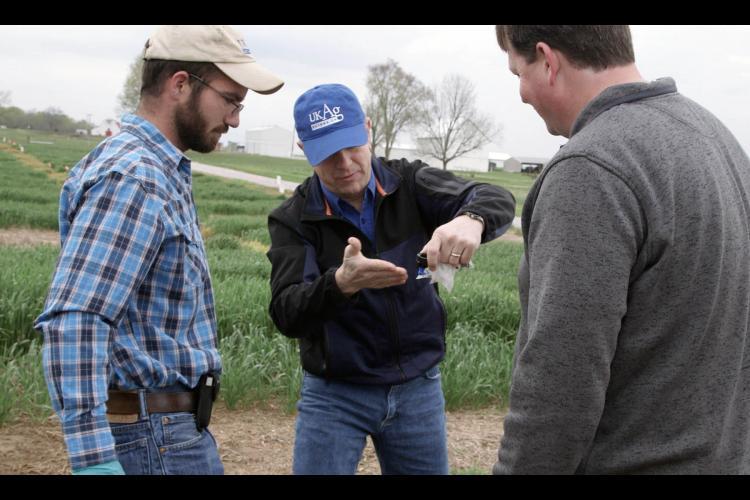 (l-r)  Josh Duckworth, Tim Stombaugh and Carl Bradley.  Photo: Dave Stalion