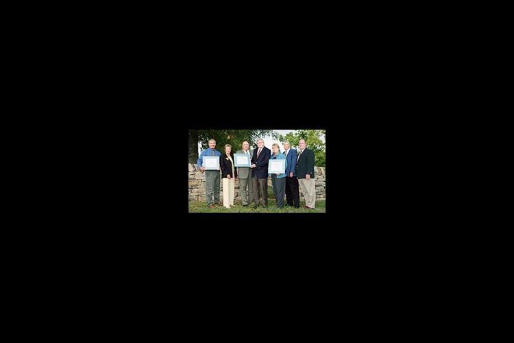 Left to Right: Steve Haney, warden of Blackburn Correctional Complex; Barbara Jones, UK general counsel; John Rees, commissioner of Kentucky Department of Corrections; Bob Wiseman, UK vice president of Facilities Management; Jane Wooley, restoration manag
