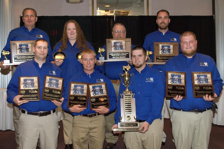 2012 Wildcat Pulling team, advisers back row