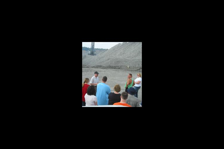 people at surface mine