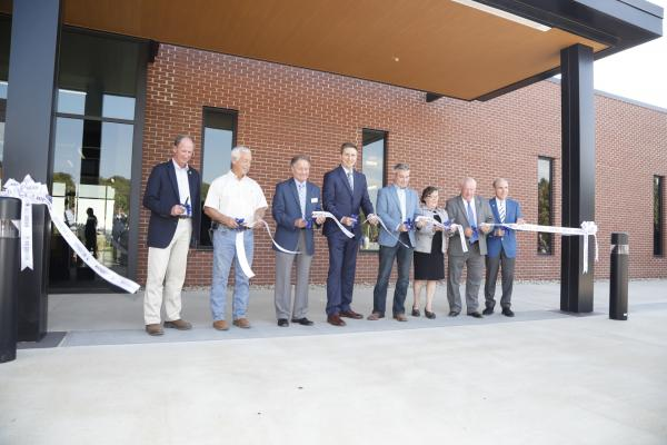 UK scientists and stakeholders cut the ribbon on the Grain and Forage Center of Excellence.