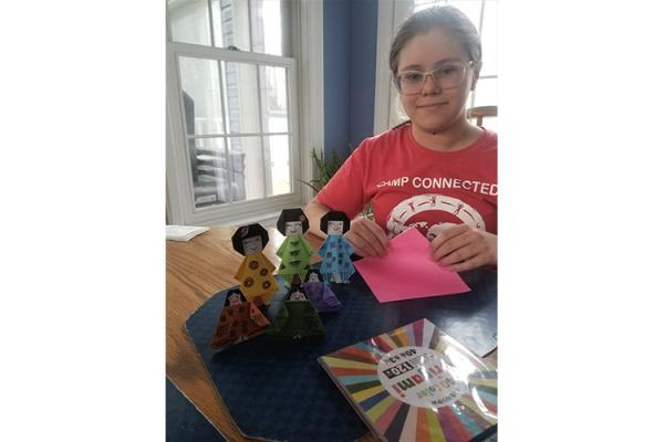 Russell County 4-H'er Autumn Onyon shows off the Hino dolls she made as part of 4-H's virtual celebration of Japan's Girl Day.