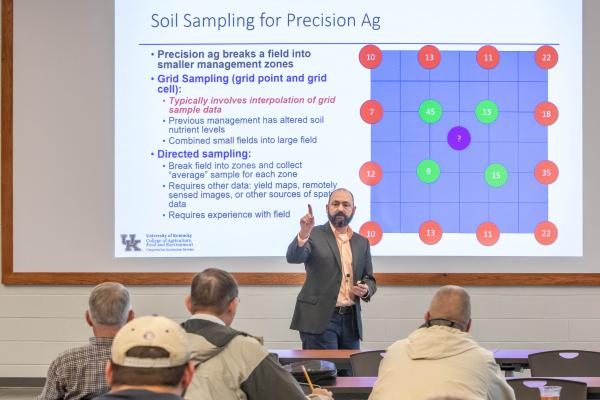 Josh McGrath teaching at an IPM workshop