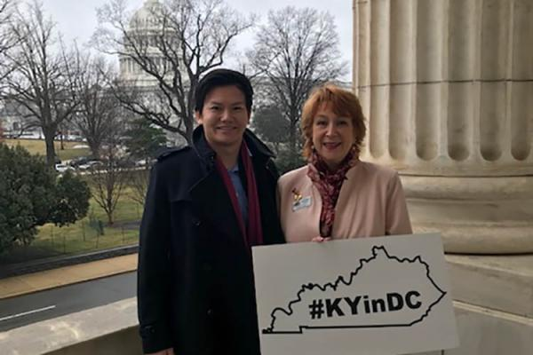 Josh Lau and Kristina Joyce in Washington, D.C.