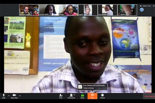 A screenshot of FEGNe's Zoom classroom.