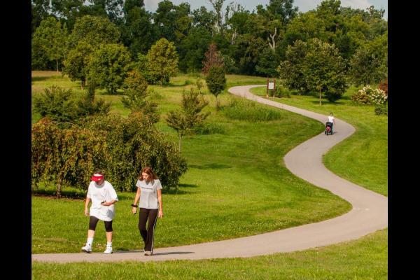 Walkers at the University of Kentucky's Arboretum.