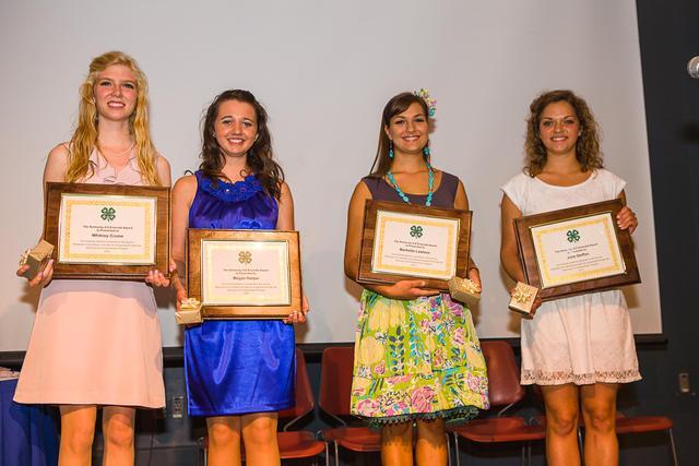 Emerald winners from left: Whitney Crume, Megan Harper, Marketta Lawless and Julia Steffen.