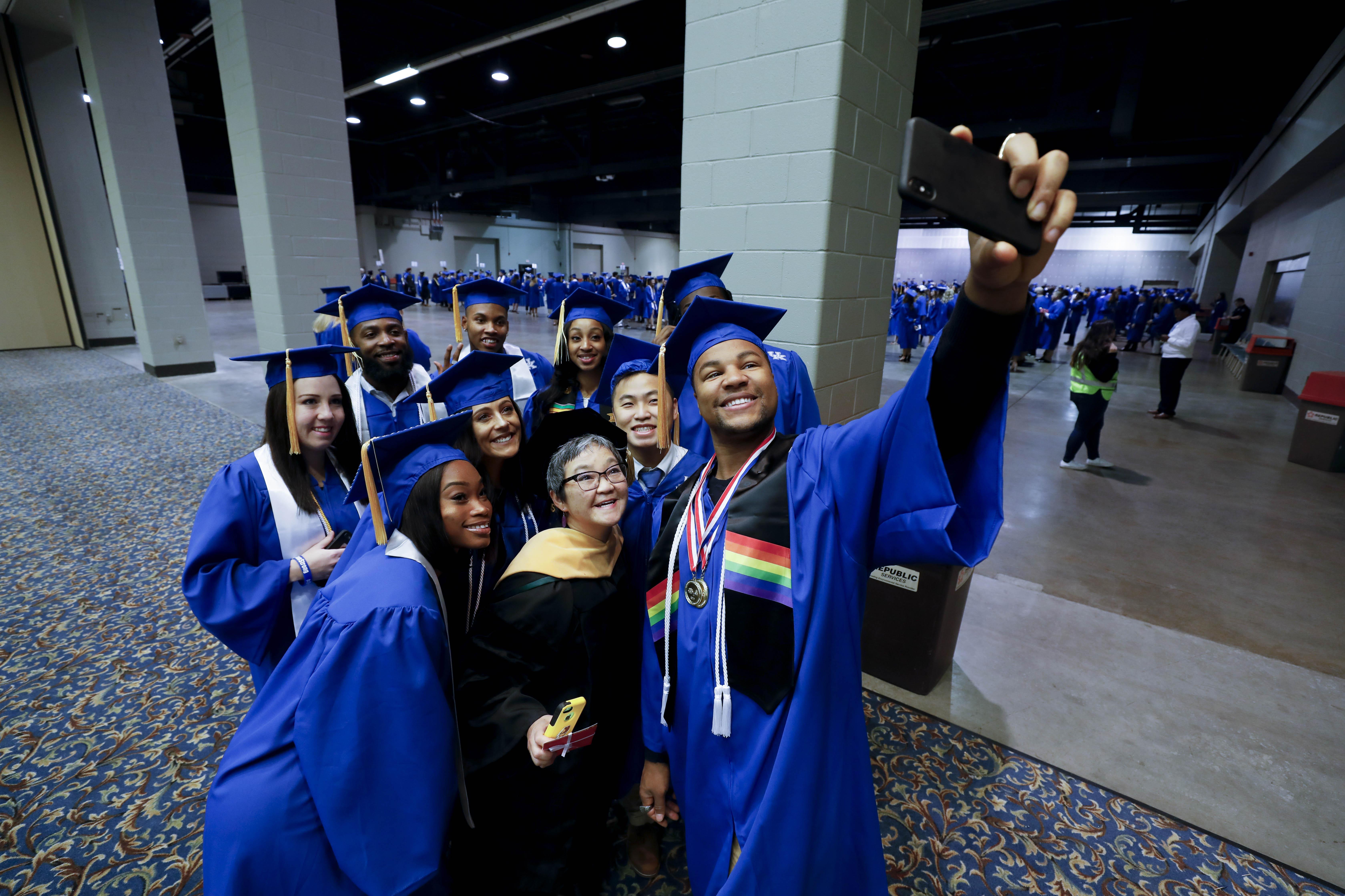 Community and Leadership Development graduates celebrate.