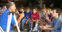 University of Kentucky Cooperative Extension Service Entomologist Doug Johnson discusses insects with fourth-graders during a recent youth agriculture day in Ohio County.