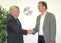 Scott Smith (left) with David Mohney