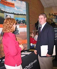 Students had one-on-one contact with potential employers at the 2004 College of Ag. Career Fair