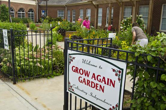 The Grow Again Garden at Cardinal Hill Rehabilitation Hospital is both beautiful and useful.