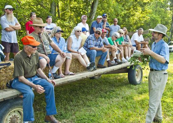 UK's Ray Smith speaks to participants at the 2010 Farm-City Field Day.