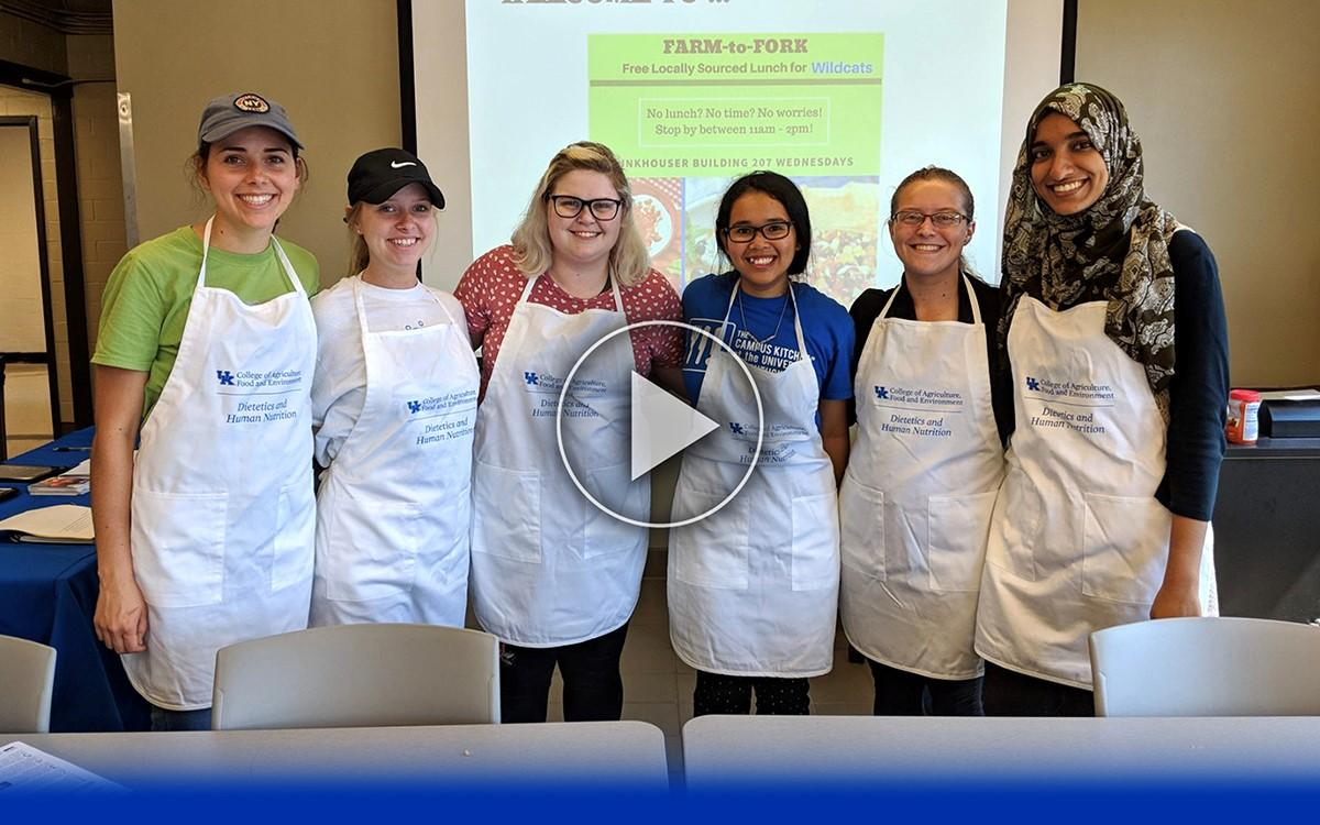 Group photo of UK students involved in Farm to Fork program.