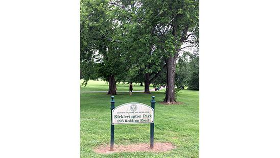 Kirklevington Park is one of two parks study participants can walk. Harrod Hills is the other.