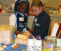 students selling homemade products