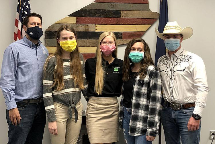 Members of the Webster County 4-H 2021 National LifeSmarts Championship team are from left: Coach Wade Raymer, Emma Martin, Lily Martin, Allie Newman and William Leslie. Not picture is Ella Oakley. Photo provided.